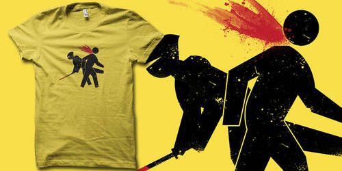 Ninja Crossing T-shirt by biotwist