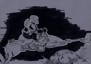 Scoot trooper by tony-rhodes-gunair
