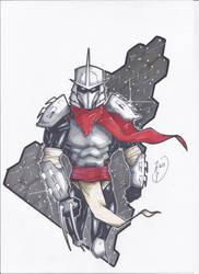 Shredder walking by tony-rhodes-gunair