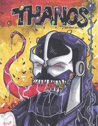 Thanos venomized by tony-rhodes-gunair
