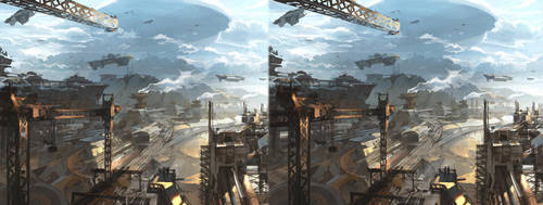 Ship Yard- cross eye Stereo by artbytheo
