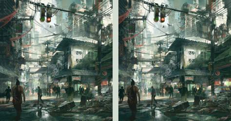 Street Scene - stereo by artbytheo