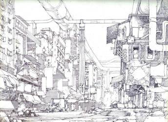 Pen - street by artbytheo