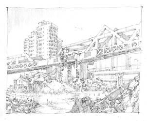Pen - Bridge by artbytheo