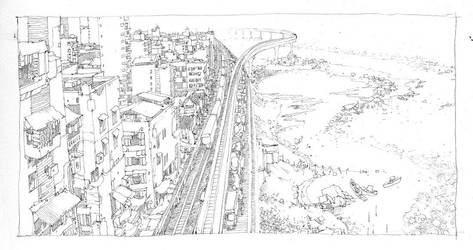 Pen - Outer Circle Line by artbytheo