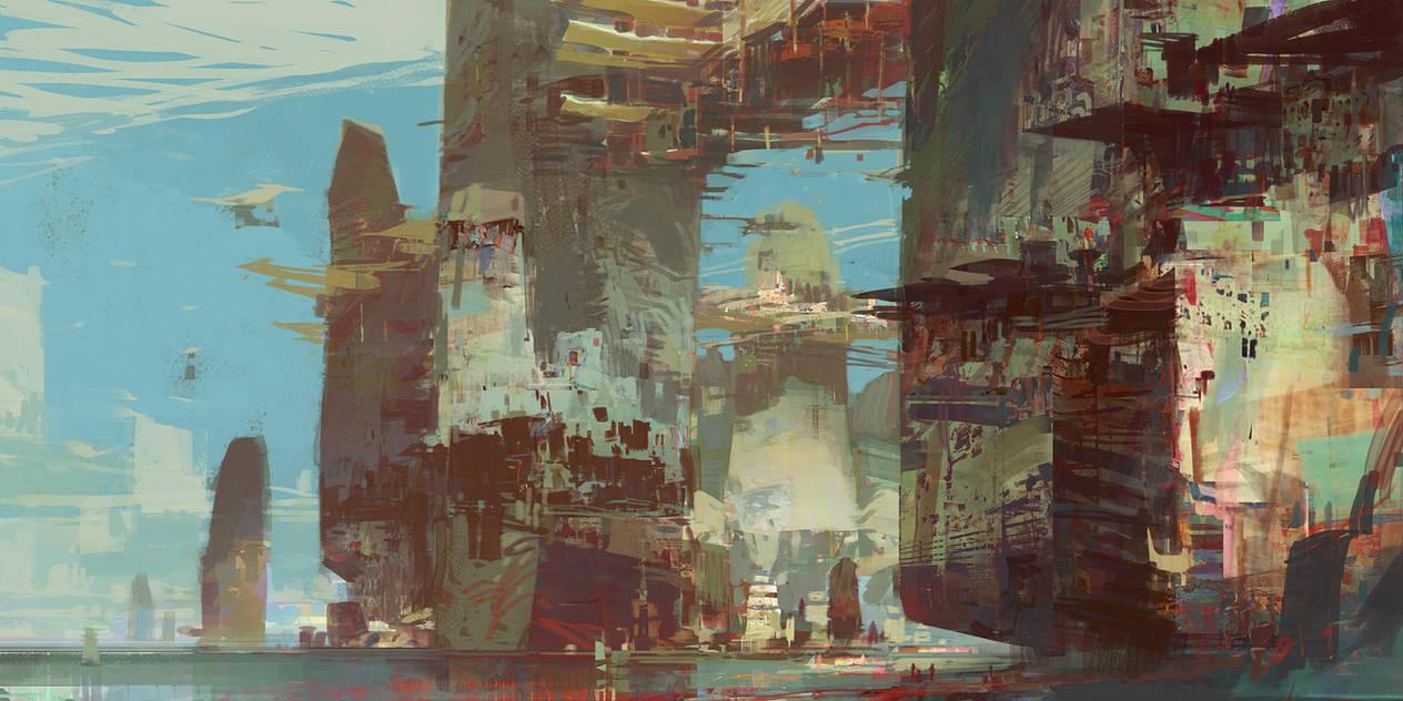 Kite City 3 - Guild Wars 2 by artbytheo