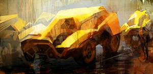 Yellow car by artbytheo
