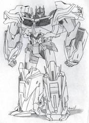 Optimus Prime Full Body Sketch by PDJ004