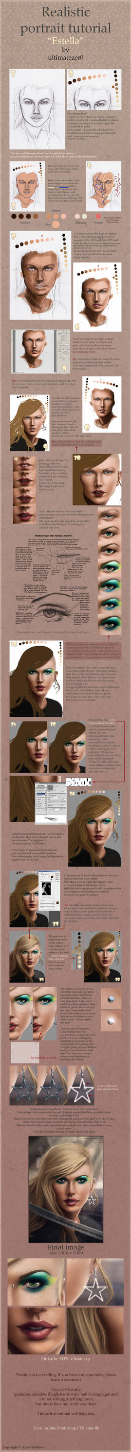 Realistic portrait tutorial by nom-nom-pancake