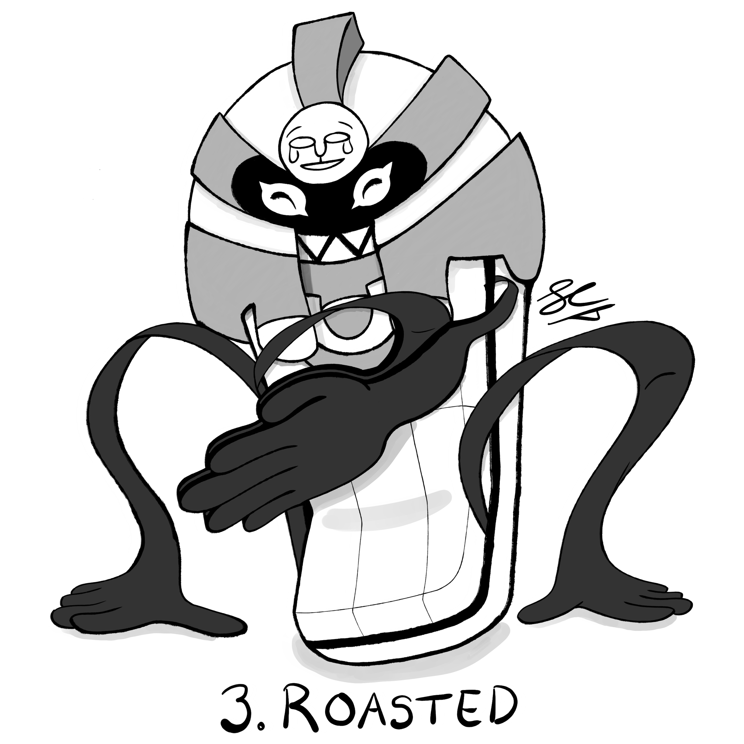Inktober Day 3: Cofagrigus Boi by Seathorne
