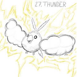 Inktober Day 27: Thunderstruck Swablu by Seathorne