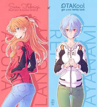 OTAKool Collab: Asuka and Rei by SaraFabrizi