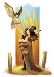 owl woman by Diaff