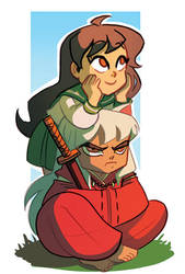 Inuyasha and Kagome by Diaff