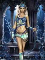 Blue Archer by faegatekeeper