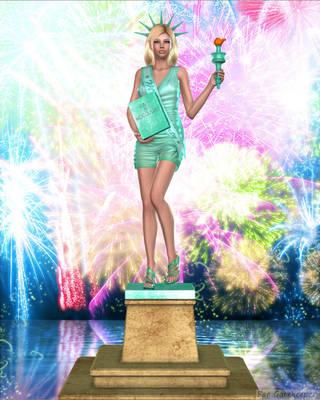 Lady Liberty by faegatekeeper