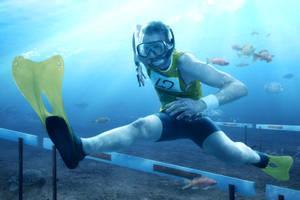 Underwater Hurdling by gyaban