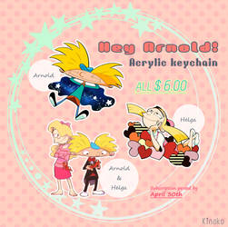 [Resale] Hey Arnold! Keychain by knknknk