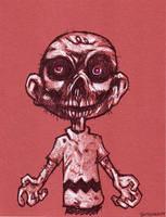 Charlie Brown as a Zombie by ButchAdams