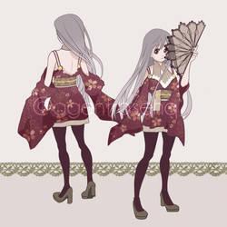 Japanese Kimono Fashion - Anime Original Character by AgentRose