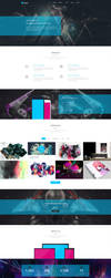 Freebie - Kasper,Creative PSD Template by GraphBerry