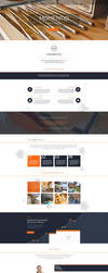Freebie - Momentio,Single Page PSD Template by GraphBerry