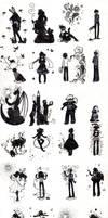 Shadows dancing on the floor by Hakunette