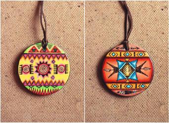 Mexican/Native American pendant by Aijoku