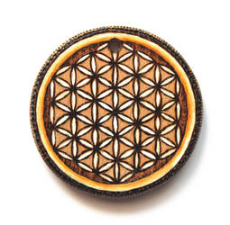 Flower of life - wooden pendant by Aijoku