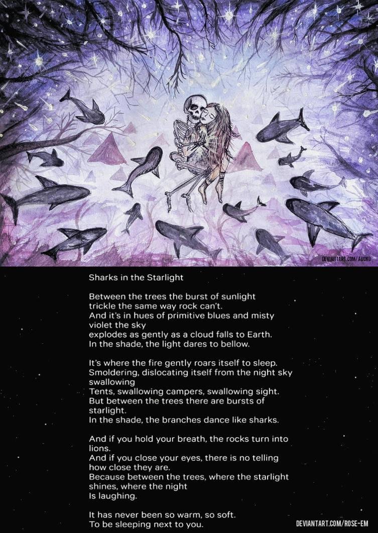 Hidden Light - Sharks in the starlight by Aijoku