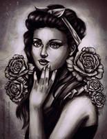 Black and White Roses by RetkiKosmos