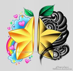 Paopu Fruit Couple's Tattoo Design by RetkiKosmos