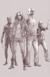 the Defenders Netflix Version Pencils by benttibisson