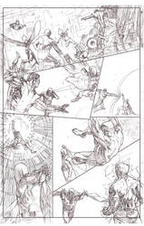 Uncanny Xmen 112 redraw page 3 pencil sample by benttibisson
