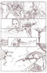 Uncanny Xmen 112 redraw page 4 pencils by benttibisson