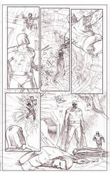Uncanny Xmen 112 redraw page 5 pencils by benttibisson