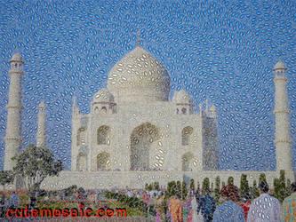 Taj Mahal mosaic by albertoven