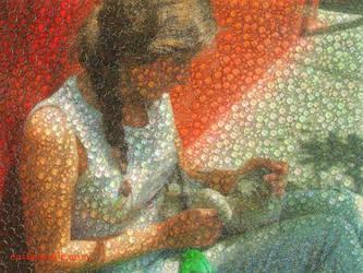 Clara mosaic by albertoven