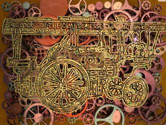 Steampunk vapor car by albertoven