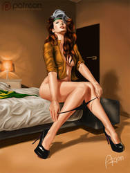 Rogue in a motel room by arion69