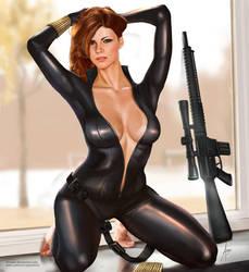 Natasha (Black Widow) on break by arion69
