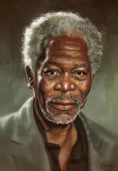 Morgan Freeman by Erlson