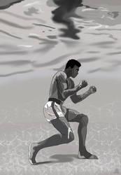 Muhammad Ali: Underwater Training by AnansiOneiros