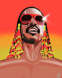 Stevie Wonder Commission by AnansiOneiros