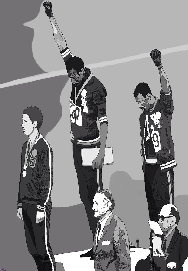 Jessie Owens 1936 Olympics (commission) by AnansiOneiros