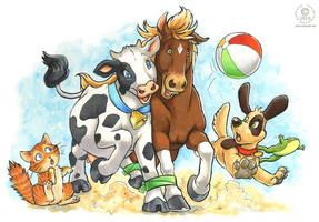 Six Legged Race by KaceyM