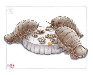 Isopod Tea Party by KaceyM