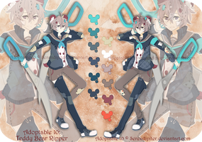 [CLOSED] Adoptable 10: Misfit Teddy Bear Ripper by Staccatos