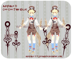 [CLOSED] Adoptable 11: Coo Coo Time Killer by Staccatos