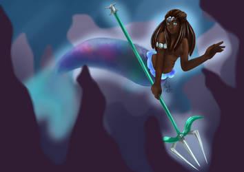Poseidon Genderbend by maybarros